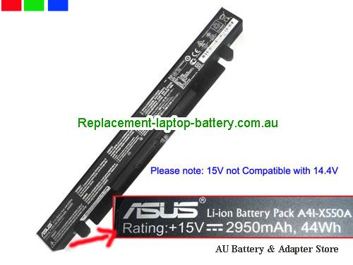 AU Genuine A41-X550A X550A Battery for ASUS X550B F550C X550D X550 X450C X450 X550V 15V