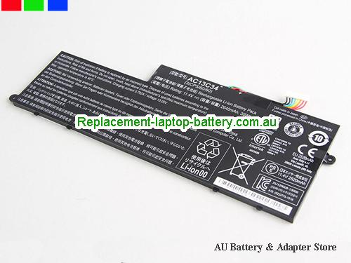 AU Genuine AC13C34 Acer Aspire V5V5-122 V5-132 V5-122P E3 E3-111 11.4VDC 2640mAh Li-ion Battery Pack KT.00303.005