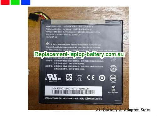 AU 30107108 Battery For ACER Iconia Tab 8 A1-840 Series