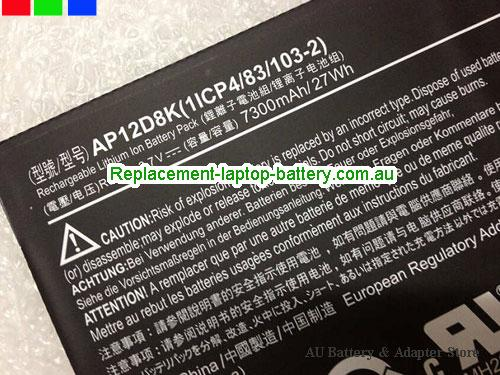 AU ACER AP12D8K Battery For Iconia W510P W510 Series 27Wh 7300mah