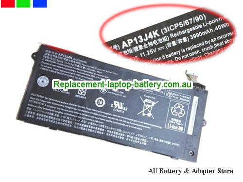 ACER 3ICP5/67/90 Battery 3920mAh, 45Wh  11.4V Black Li-ion