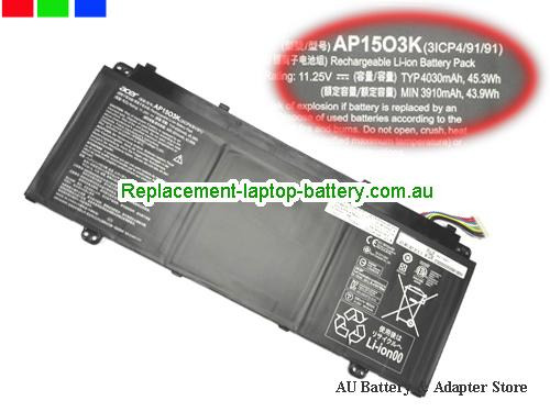 AU ACER AP1503K Battery For Aspire S13  S5 series Laptop