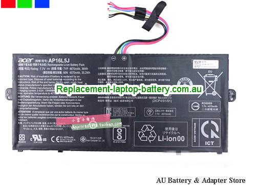 ACER ACER SF514 SERIES Battery 4670mAh, 36Wh  7.7V Black Li-ion