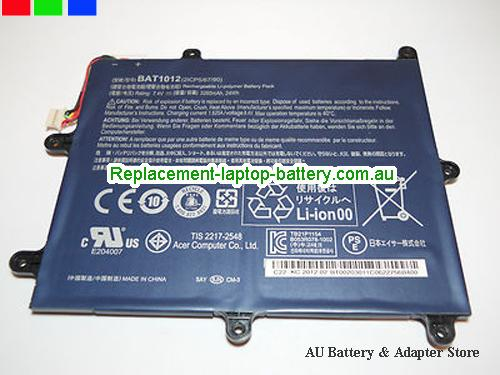AU BAT1012 BAT-1012 Battery for Acer Iconia Tab A200 A210 A520 Tablet PC BT.00203.011 KT.00203.002 3280mAh