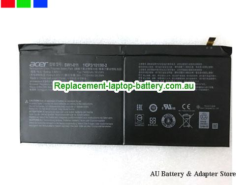 ACER 1ICP310190-2 Battery 7900mAh, 30Wh  3.8V Black Li-Polymer