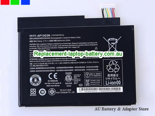 AU Genuine Acer Iconia W3-810 Tablet AP13G3N Windows 8.1-inch battery