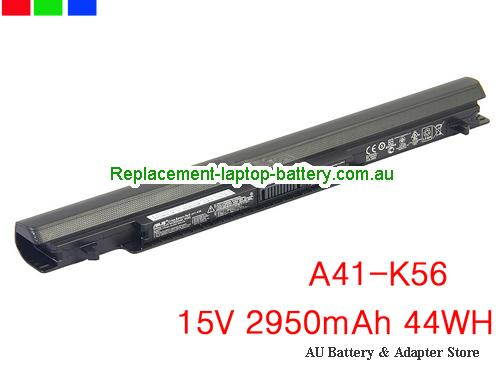 ASUS S46CB-WX119H Battery 2950mAh, 44Wh  15V Black Li-ion