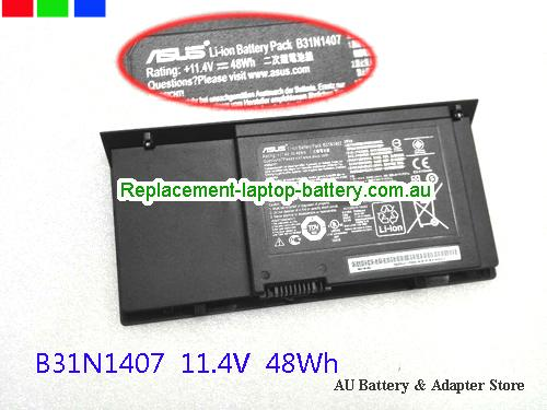 ASUS B451JA Battery 48Wh 11.4V Black Li-ion