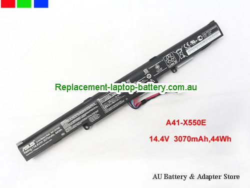 ASUS A41-X550E Battery 3070mAh, 44Wh  14.4V Black Li-ion