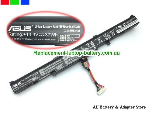 ASUS X751LAV-TY175H Battery 2500mAh, 37Wh  14.4V Black Li-ion