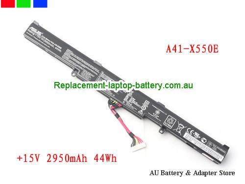 ASUS A41-X550E Battery 2950mAh, 44Wh  15V Black Li-ion