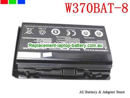 CLEVO 6-87-W370S-4271 Battery 5200mAh, 76.96Wh  14.8V Black Li-ion