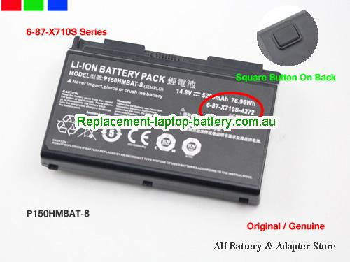 Dell P170SM Battery 5200mAh, 76.96Wh  14.8V Black Li-ion