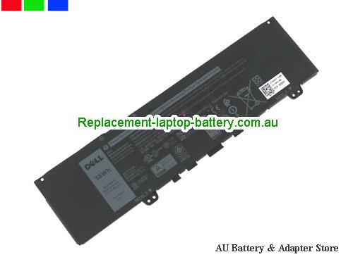 Dell Inspiron 13 7373 Battery 3166mAh, 38Wh  11.4V Black Li-Polymer
