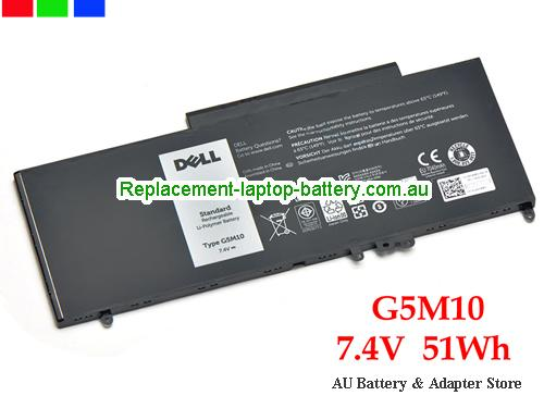 Dell Latitude E5550 SERIES Battery 51Wh 7.4V Black Li-Polymer