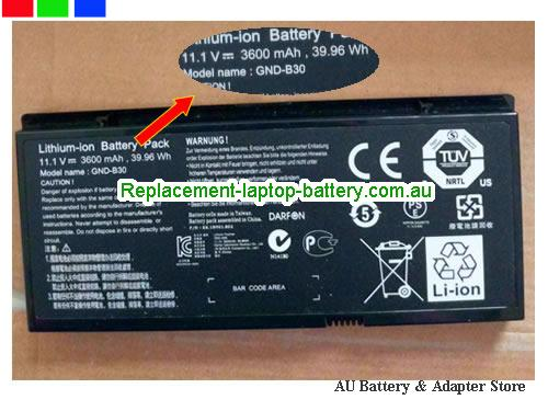 AU Original GND-B30 Battery For GIGABYTE M1405 Laptop 3600Mah