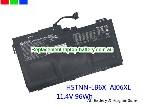 HP 808451-001 Battery 7860mAh, 96Wh  11.4V Black Li-ion