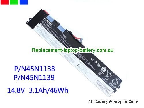 AU 46Wh Battery For lenovo 45N1138 45N1139