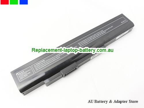 AU Replacement Laptop Battery for  MEDION P6631, AKOYA E6228, A32-A15, P7815,  Black, 4400mAh, 63Wh  14.4V