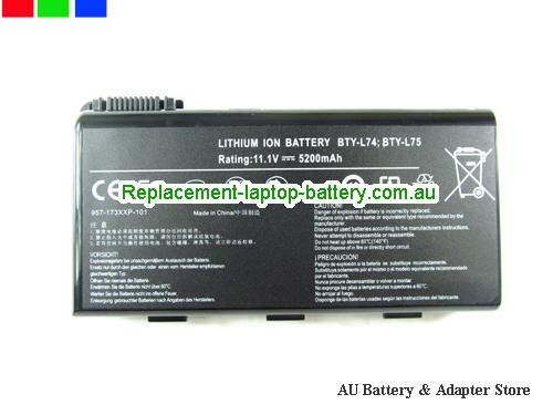 MSI A6000 Battery 5200mAh 11.1V Black Li-lion