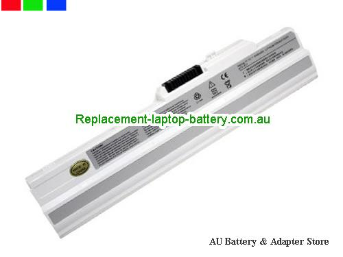 AU Replacement Laptop Battery for  ROVERBOOK Neo U100, Roverbook Neo U100,  White, 5200mAh 11.1V