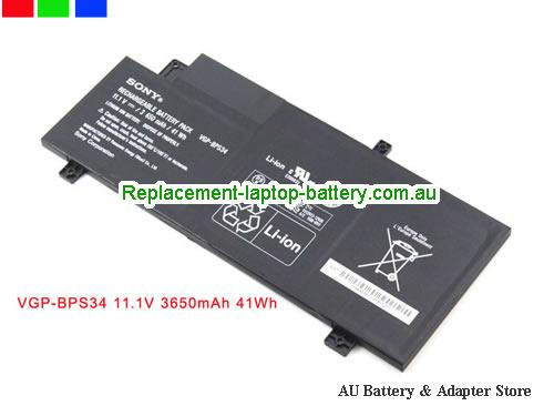 SONY FIT15 Battery 3650mAh, 41Wh  11.1V Black Li-ion