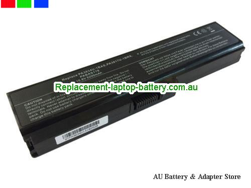 TOSHIBA Satellite L645 Series Battery 5200mAh 10.8V Black Li-ion