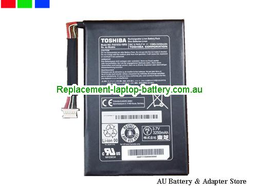 TOSHIBA Excite Go Mini7 Battery 3250mAh, 13Wh  3.7V Black Li-Polymer