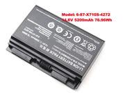 For P170 -- Genuine Clevo 6-87-X710S-4271 P150HMBAT P170 P170EM PC Battery