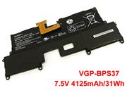 For SVP11216PXB -- Genuine SONY VAIO SVP112A1CL Battery 4125mAh, 31Wh , 7.5V, Black , Li-ion