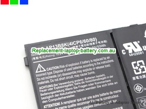 image 4 for Au online offer New Genuine AP13B8K Battery For Acer Aspire M5-583 V5-573 Laptop 53Wh Black