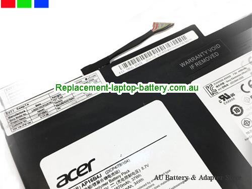 image 2 for Au online offer Genuine ACER AP16B4J Battery For Aspire Switch Alpha 12 SA5-271 series Black