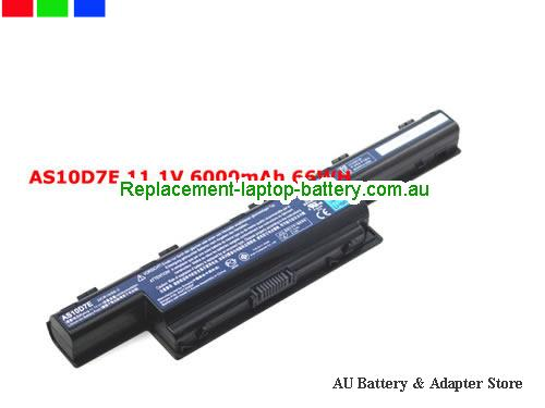 image 1 for Au online offer Genuine Laptop Battery for Acer Aspire 4333 4339 4349 AS10D5E 6000mah Black