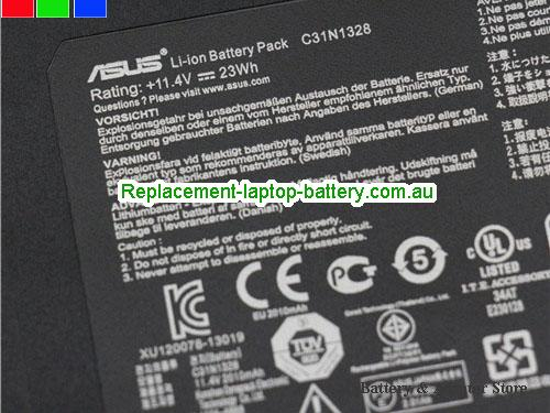 image 2 for Battery C31N1328, Australia ASUS C31N1328 Laptop Battery In Stock With Low Price
