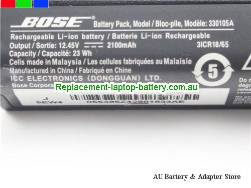 image 2 for Battery 412540, Australia BOSE 412540 Laptop Battery In Stock With Low Price