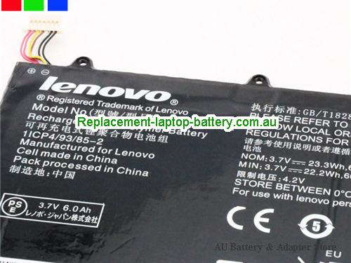 image 2 for Au online offer Genuine 6000mah Lenovo H12GT201A Battery For  IdeaTab A2109A Black