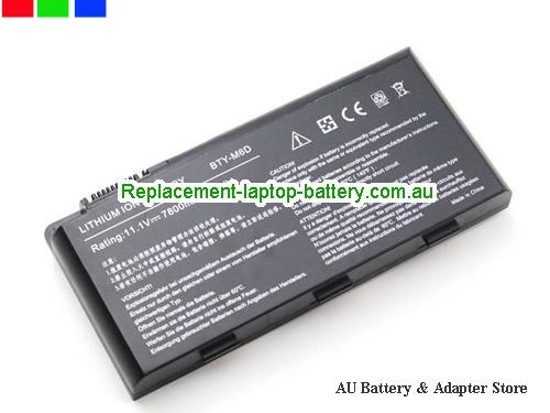 image 1 for Au online offer Genuine BTY-M6D Laptop Battery For MSI GX660R E6603 GT70 GT780 GX660 GT60 GT70 GX680 Series 9 Cells Black
