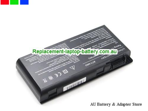 image 2 for Au online offer Genuine BTY-M6D Laptop Battery For MSI GX660R E6603 GT70 GT780 GX660 GT60 GT70 GX680 Series 9 Cells Black