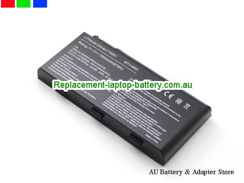 image 3 for Au online offer Genuine BTY-M6D Laptop Battery For MSI GX660R E6603 GT70 GT780 GX660 GT60 GT70 GX680 Series 9 Cells Black