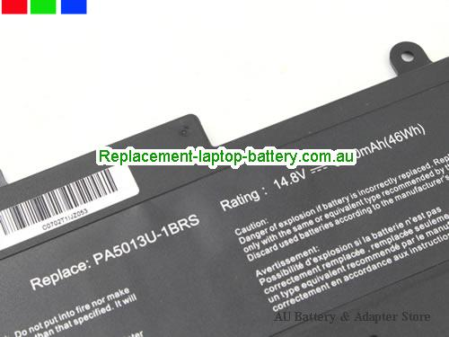 image 2 for Au online offer Toshiba PA5013U-1BRS Battery For Portege Z830 Z930 Z835 Z935 Series Laptop 47Wh Black