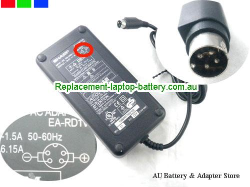 Genuine SHARP  19.5V 6.15A Laptop AC Adapter