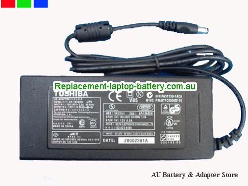 AU TOSHIBA 12V 6A 72W Laptop ac adapter
