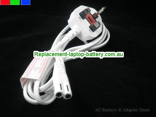 UK white 1.8m C7 Adapter Power cable