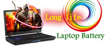 Long life laptop battery